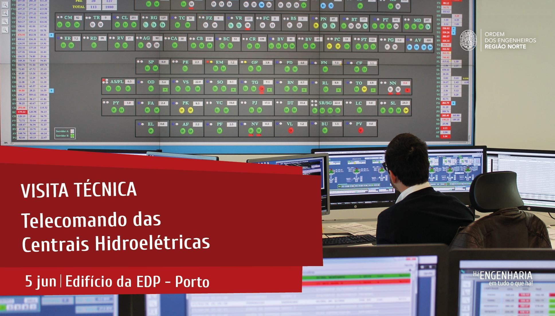 Plataforma Notícias Ordem Engenheiros Região Norte - Visita Técnica ao Telecomando das Centrais Hidroelétricas