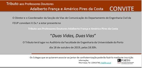 Plataforma Notícias Ordem Engenheiros Região Norte - Tributo aos professores Adalberto França e Américo Pires da Costa