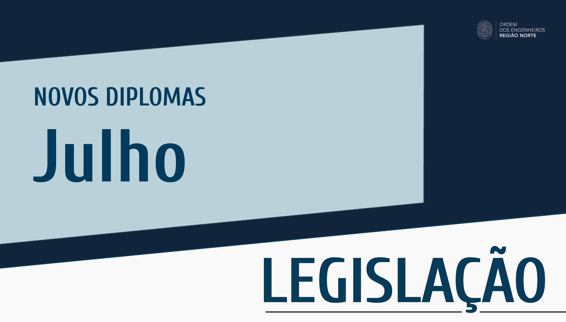 Plataforma Notícias Ordem Engenheiros Região Norte - Novos diplomas do mês de julho