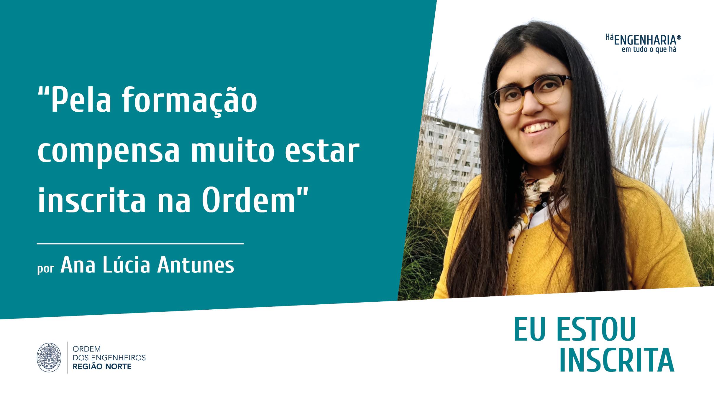Plataforma Notícias Ordem Engenheiros Região Norte - Eu estou inscrito na Ordem… por Ana Lúcia Antunes